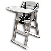 Safetots Putaway Folding Wooden Highchair White