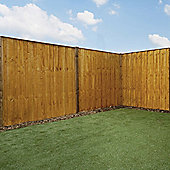 Mercia Vertical Hit and Miss Fence Panel 6ft Dipped