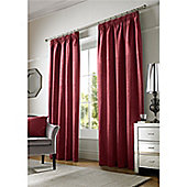 Alan Symonds Chenille Pencil Pleat Curtains - Red