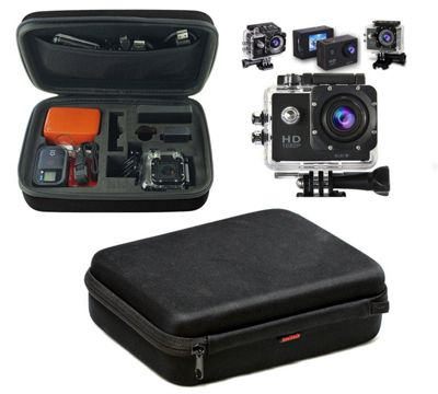 Navitech Black Shock Proof Action camera Case / Cover For the Kitvision Escape