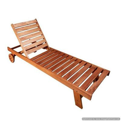 BillyOh Classic Ocean Shorea Sun Lounger & Green Cushion