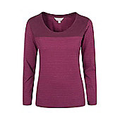 Mountain Warehouse Salcombe Womens Striped Long Sleeved Top ( Size: 8 )