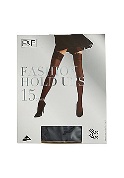 F&F Lace Top 15 Denier Hold-Ups with Lycra® - Black