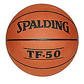 Spalding TF-50 Indoor Outdoor Rubber Basketball Tan - Size 5