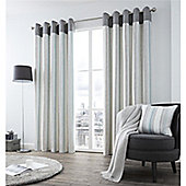 Fusion Rydell Stripe Eyelet Curtains - Teal