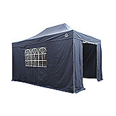 All Seasons Gazebos, Heavy Duty, Fully Waterproof, 3m x 4.5m Superior Pop up Gazebo Package in Navy Blue