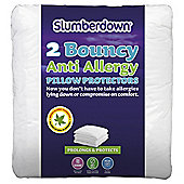 Pair of Slumberdown Bouncy Anti Allergy Pillow Protectors