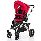 ABC Design Mamba Pushchair - Silver & Cranberry