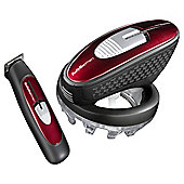 BaByliss 7565U Mens Super Crewcut Electric Home Hair Clippers and Beard Trimmer - Red
