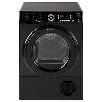Hotpoint Ultima S-Line Condenser Tumble Dryer, SUTCD 97B 6KM (UK) - Black