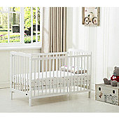 Brooklyn Crib Cot With Free Water Repellent Mattress (White)