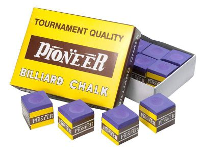 Pioneer Billard Chalk (12 Pieces) - Chalk Colour : Purple