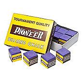 Pioneer Billard Chalk (12 Pieces) - Chalk Colour : Purple