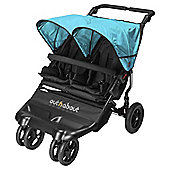 Out n About Little Nipper Double Pushchair, Black & Marine Blue