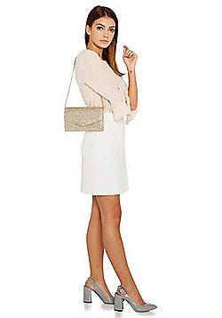 F&F Glitter Envelope Clutch Bag