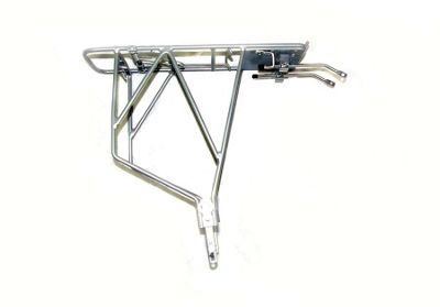Trans X Adjustable Silver Alloy Pannier Rack