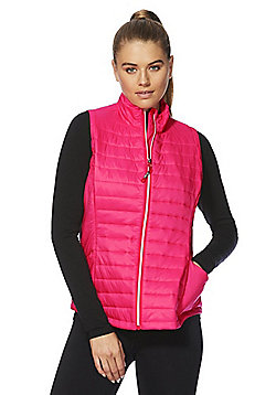 F&F Active Zip-Through Padded Gilet - Pink