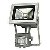 Starmo 10W Silver PIR LED Floodlight Tempered Glass