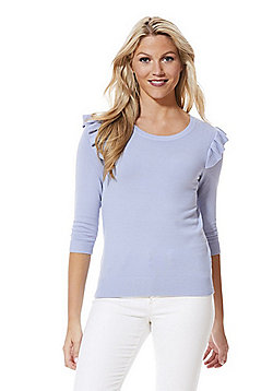 F&F Frill Shoulder Jumper with As New Technology - Pale blue