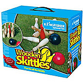 Wooden Skittles Garden Game Set