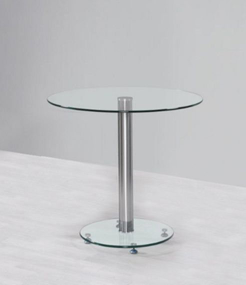 Round Clear Glass Top Small Dining Table (100 cm)