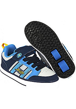 Heelys Bolt Plus Navy/New Blue/Lunar Grey Kids Heely X2 Shoe - Blue