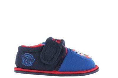 Boys Paw Patrol Flashing Badge Red & Blue Slippers Kids Child Size 5