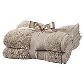Tesco Egyptian Cotton 2 Pack Hand Towels Taupe