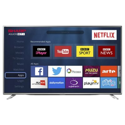 sharp 43 4k. sharp 43 inch lc-43cug8462ks 4k ultra hd smart led tv with freeview