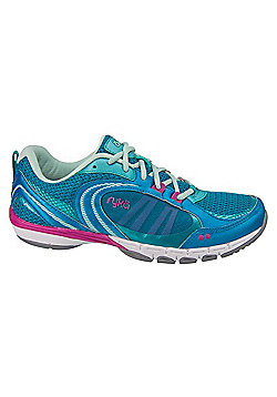 Women's Ryka Flextra Cross Trainers Blue-Teal-Mint - Blue & Green