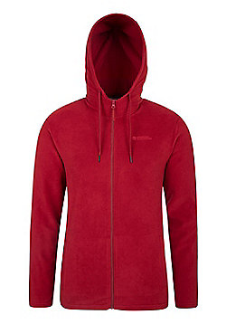 Mountain Warehouse Camber Mens Micro Fleece Microfleece Hoody - Red