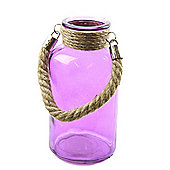 Glass Milk Jar - 20cm - Purple