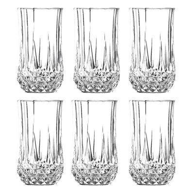 Cristal d'Arques Diamax CDA 28cl Longchamp Set of 6 Hi Ball Tumblers