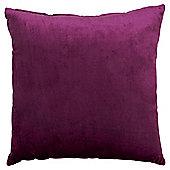 Purple Faux Velvet Cushion