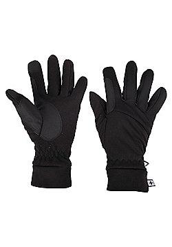 Mountain Warehouse Softshell Touchscreen Gloves - Black