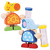 Bigjigs Toys Safari Animal Tooth Brush Timers (Pack of 2 - Elephant and Giraffe)