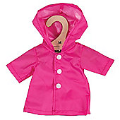 Bigjigs Toys Pink Raincoat 34cm - Doll Outfit