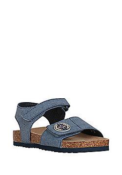 F&F Denim Open Toe Sandals - Denim