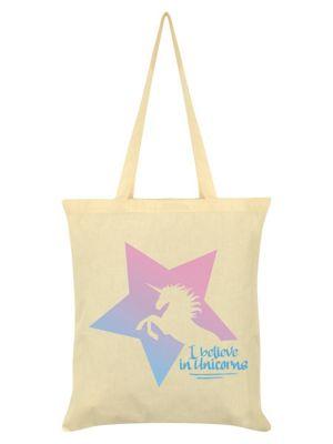 I Believe In Unicorns Cream Tote Bag 38x42cm