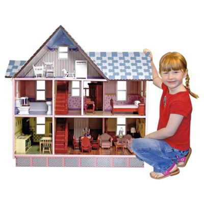 Melissa & Doug Victorian 1:12 Scale Wooden Dolls' House