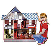 Melissa & Doug Victorian 1:12 Scale Wooden Dolls' House
