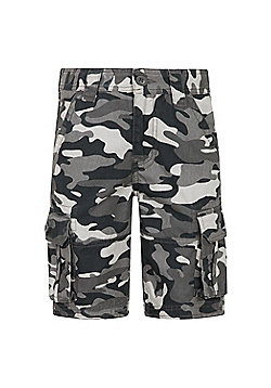 Mountain Warehouse CAMO CARGO KIDS SHORTS - Black