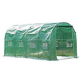 Outsunny Walk in Polytunnel Garden Greenhouse w/ Windows and Doors (4 x 2M)