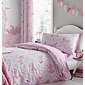 Pink Unicorns Eyelet Curtains 72s
