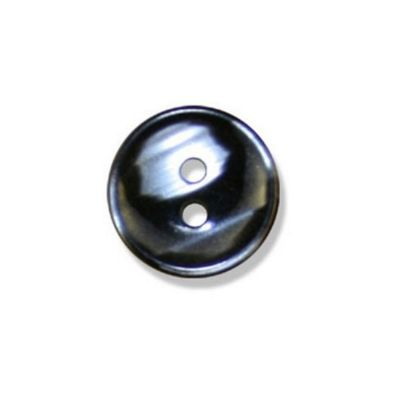 Impex Polyester Stripe Buttons Black 15mm 10pk