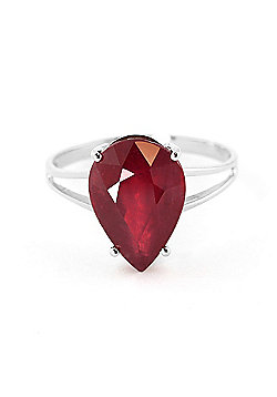 QP Jewellers 5.0ct Ruby Pear Drop Ring in 14K White Gold