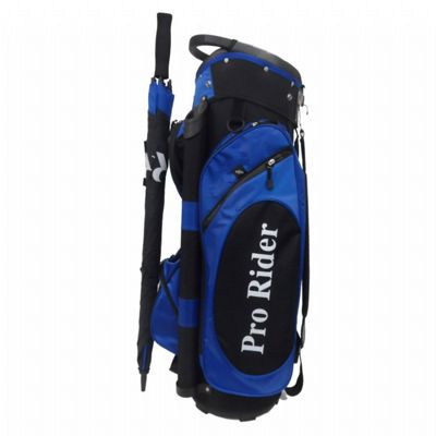 Golf Trolley Bag with Umbrella Blue/Black