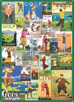 Vintage Golf Collage - 1000pc Puzzle