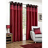 Hamilton McBride Seattle Lined Ring Top Curtains - Red