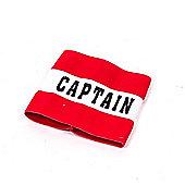 Precision Training Classic Captains Armband Red, Senior